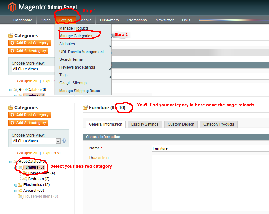 how-to-find-magento-category-id